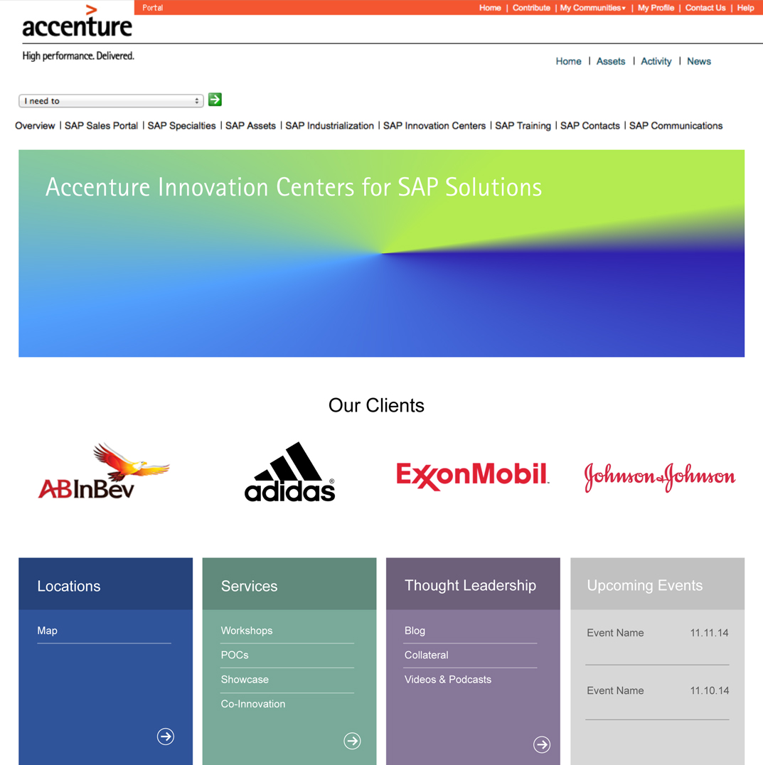 Accenture HTML/CSS Branded SharePoint homepage